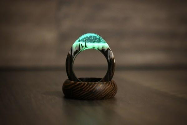 Prsten ze dřeva