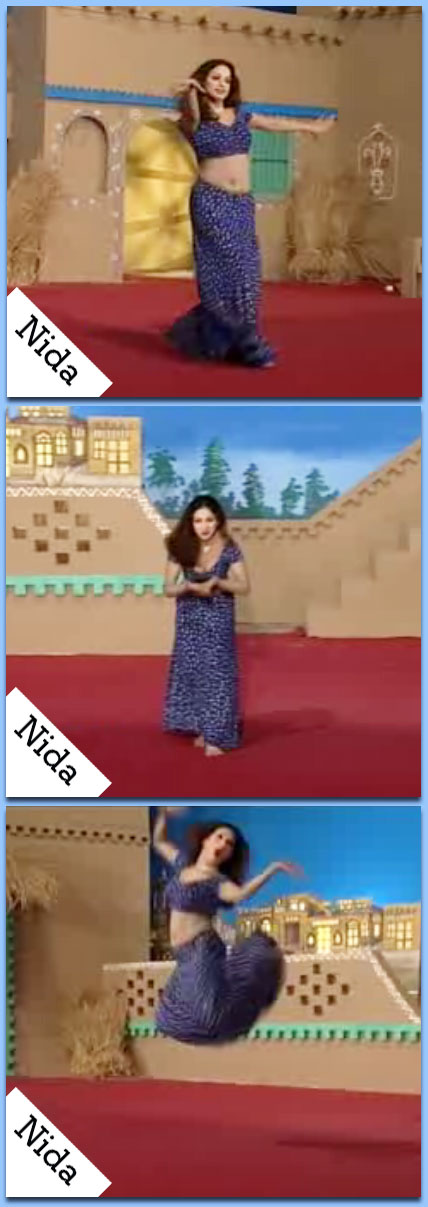 Nida - mujra video - Salaam e ishq - small sexy top - with a arabic touch or visible belly - dance music video