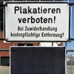 Plakatieren verboten