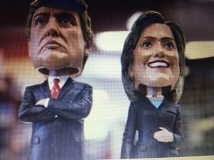 Clinton vs Trumo  Quelle Eigene Fotografie