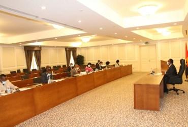 Presidente da assembleia nacional reunido com presidentes dos grupos parlamentares