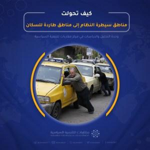 Read more about the article كيف تحولت مناطق سيطرة النظام إلى مناطق طاردة للسكان