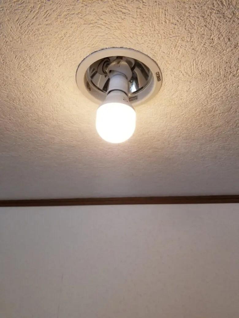 電球交換型のダウンライトはHueのスマートライトと相性悪い。電球むき出しの家