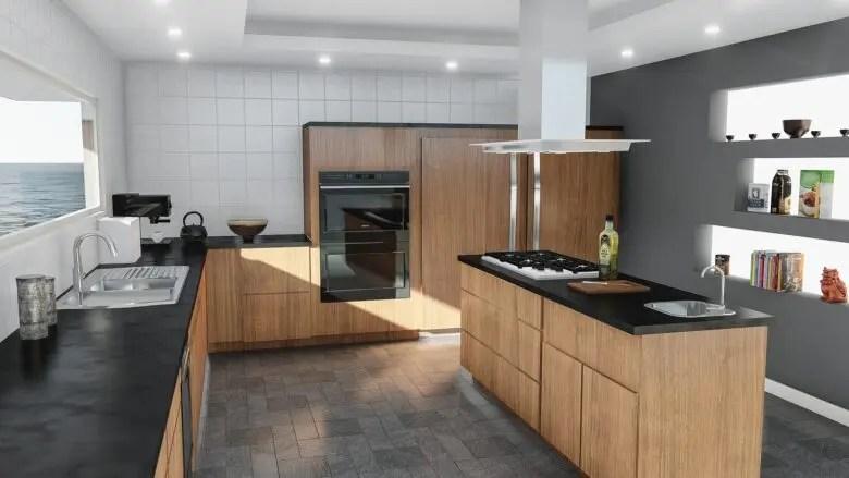 II型キッチンは対面に設置するよりも、実は横向きの方が使い勝手が良いのかも