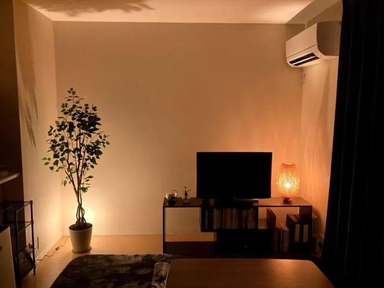 竹の編み目から漏れる光が美しいIKEAのBÖJA (ベイヤ)はお部屋のアクセントにもなる