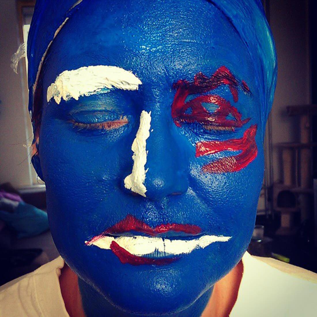 Faces - feeling blue work in progress