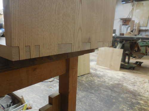 食器棚・カップボード仮組み