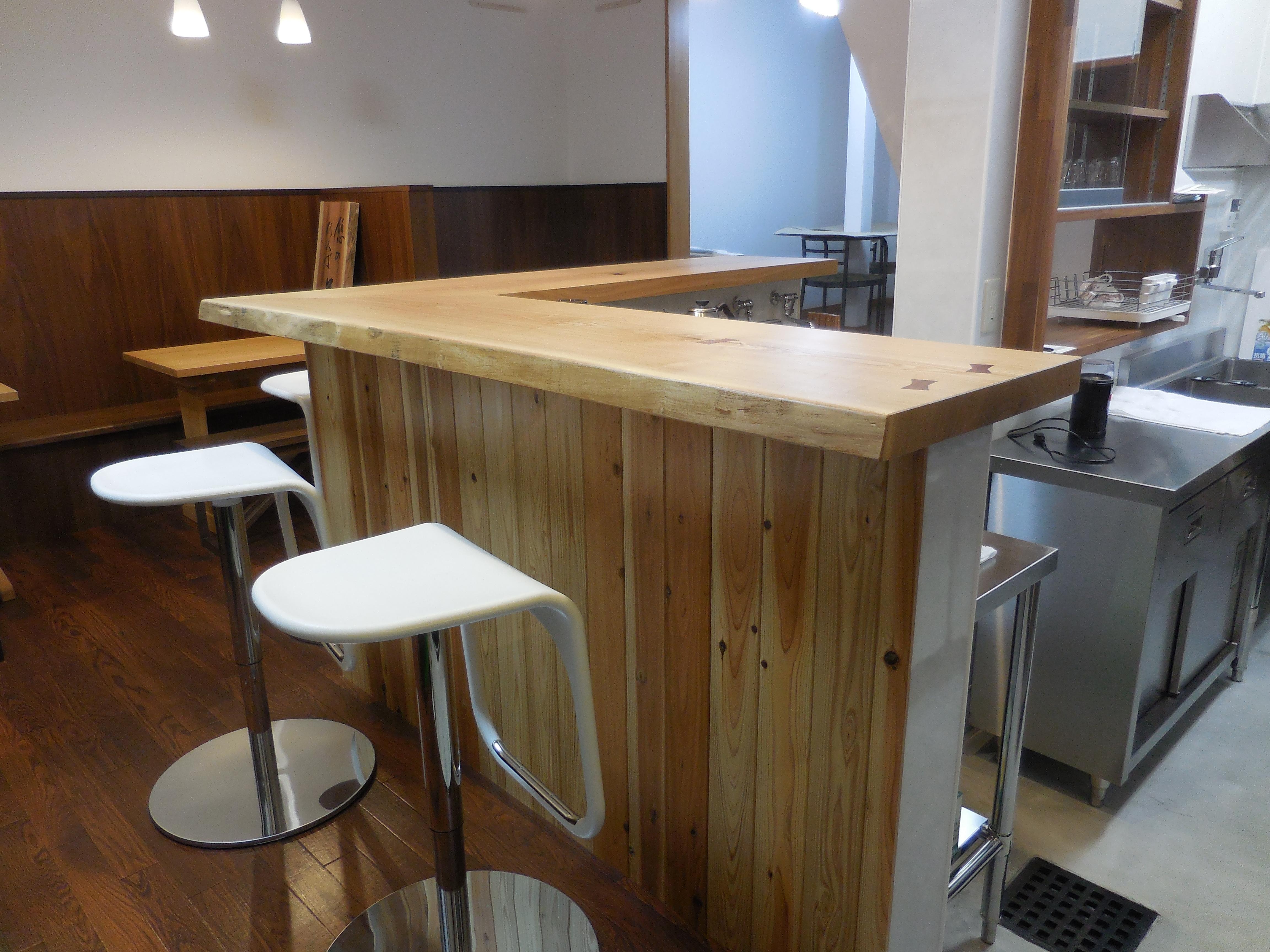 カフェ カウンターテーブル