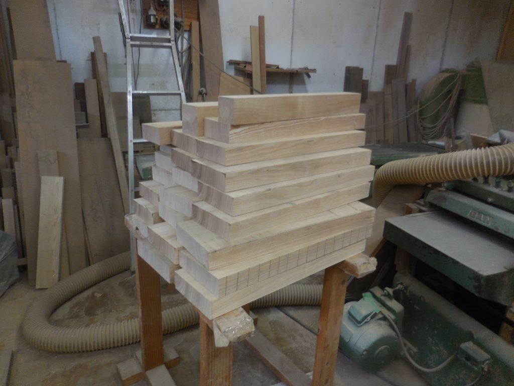 タモの柾板材