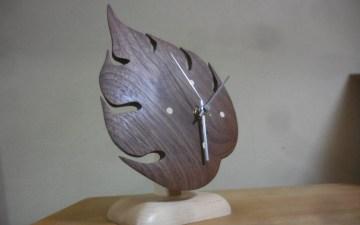葉っぱの時計