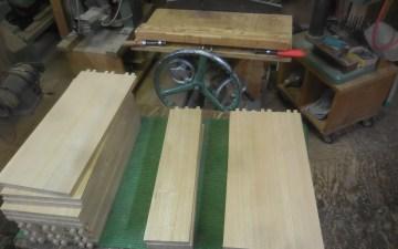栗の食器棚 抽斗加工