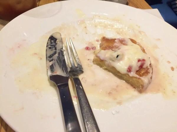 食べ終えたパンケーキ