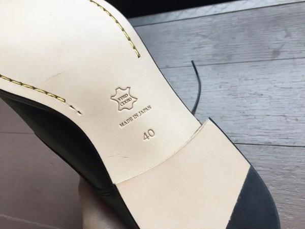 パドローネの革靴は滑る