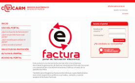 Portal CECARM Facturae