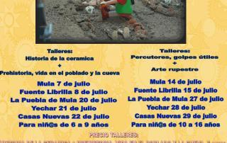 cartel talleres arqueología verano 2016