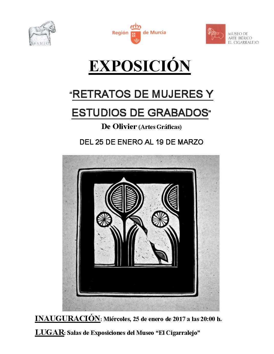 exposición retratos de mujeres y estudios de grabados enero marzo 2017