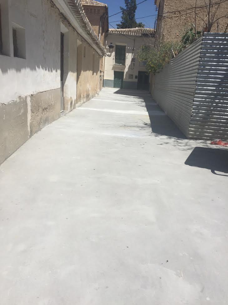 Baños Mula | Finalizada La Reconstruccion Del Muro Y La Calle Cuesta Del Horno En