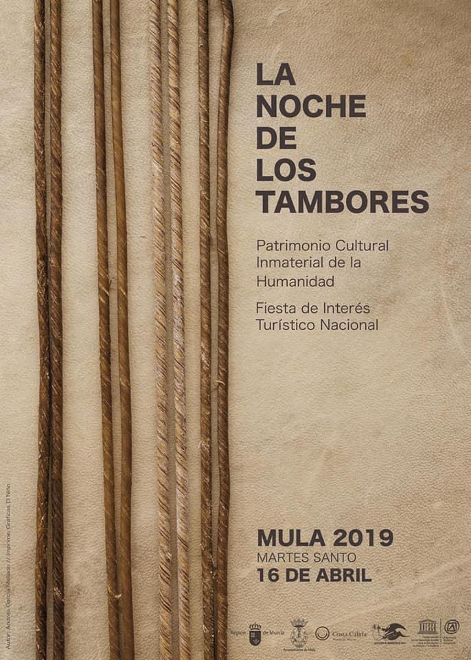 cartel noche de los tambores 2019 autor andres garcia mellado