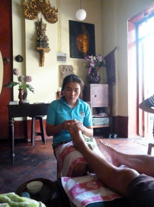 Laos, Luang prabang, salon de massage