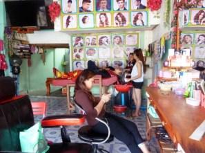 Laos, Luang Prabang, magasin de coiffure
