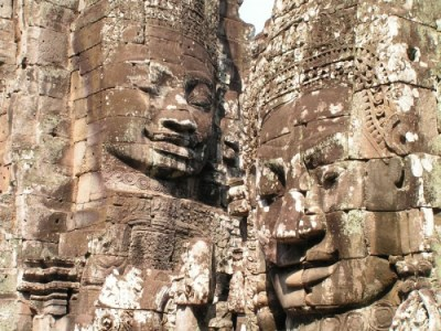 Visage statue - Bayon - Angkor - Copyright Greudin