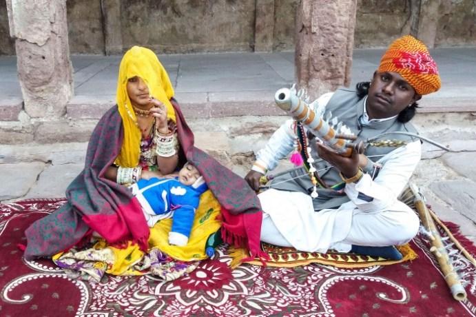 Jodhpur Inde, musiciens de rue