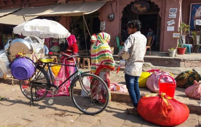 Jodhpur Inde,marché face à la Clock Tower