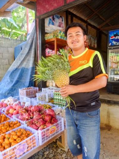 Un ananas à huit têtes à Nong Khiaw au Laos