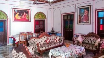 Un des salons du Nawalsagar Bundi