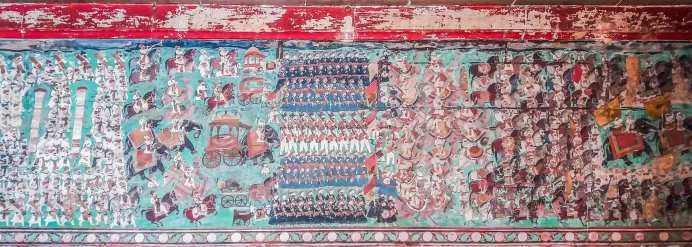 Détails du Phul Mahal dans le Palace de Bundi