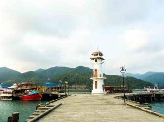 Phare du Village sur pilotis de Bang Bao à Ko Chang