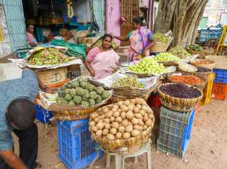 Marché à Madurai
