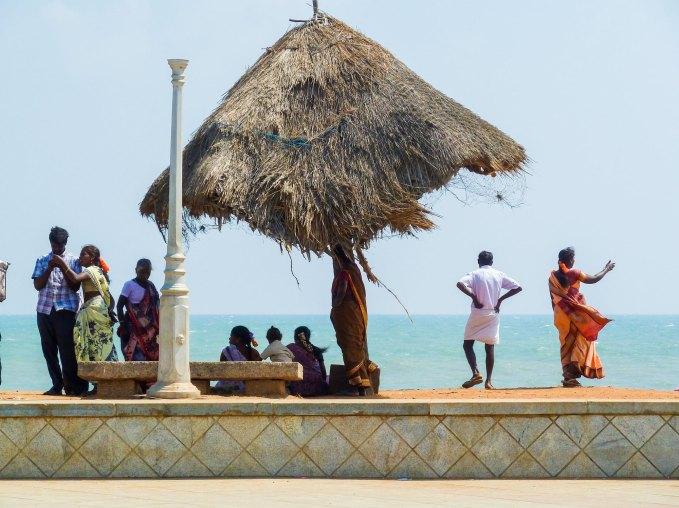 Bord de mer de l'avenue Goubert face au golfe du Bengale