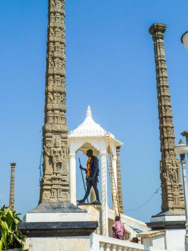 La Statue de Gandi face au Golfe du Bengale