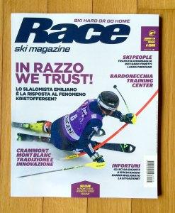 La copertina del numero 138 di Race ski magazine