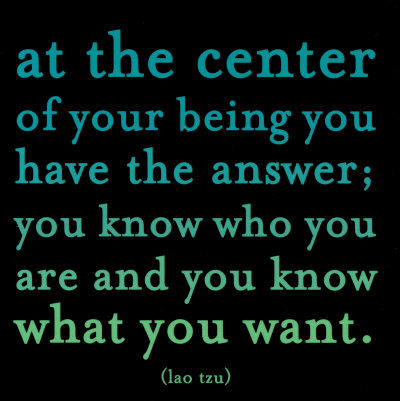 at the center of your being you have the answer