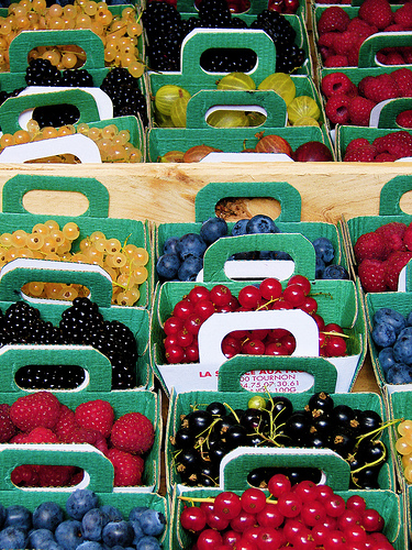 boxes of berries