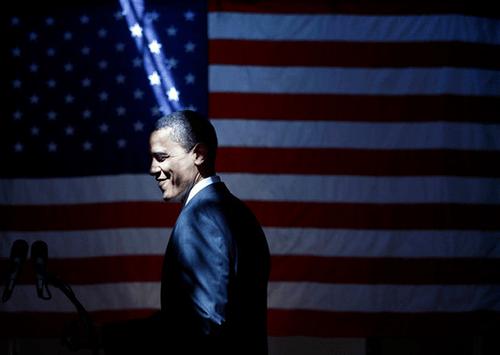 obama flag ray of light