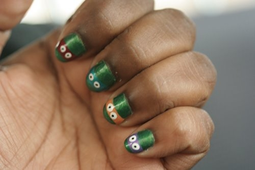 tmnt nails painted
