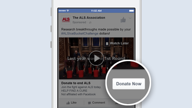 Instead of saying you care, Facebook now allows you to actually make a difference