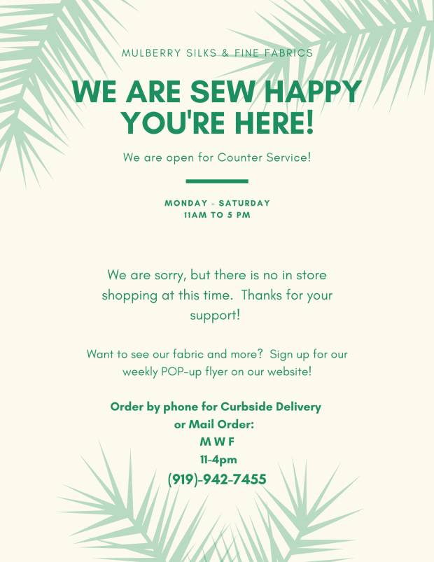 We are sew happy you're here!