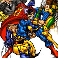 Peleas entre Superheroes....