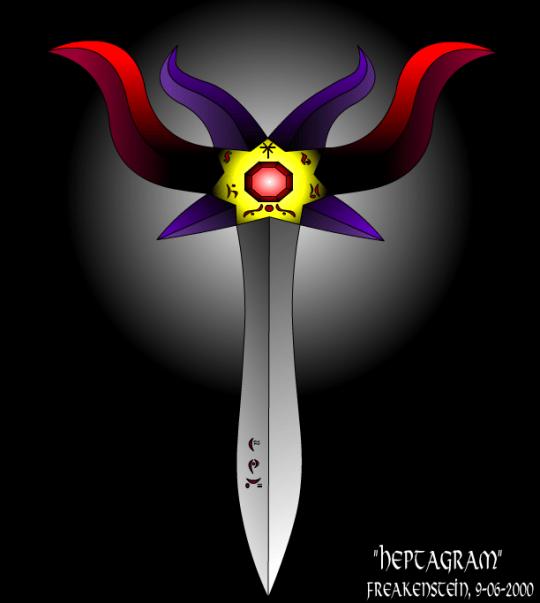 heptagram tribal zwaard