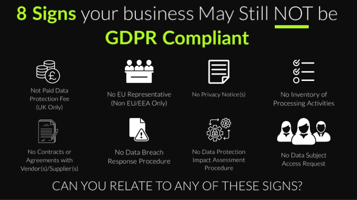 8 signs your business may still NOT be GDPR compliant