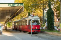 Os charmosos bondes de Viena