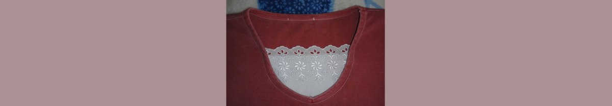 Como fechar o decote de uma blusa?