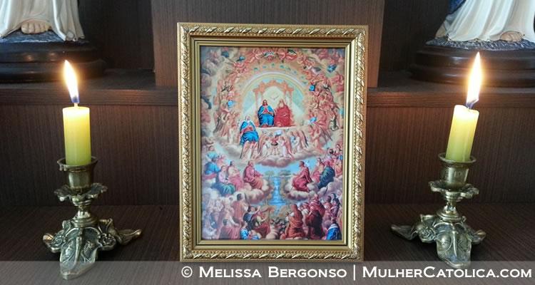 Festa de Todos os Santos – Este é o quadrinho cujas imagens sempre trocamos de acordo com as festas litúrgicas ou tempos litúrgicos, ou comemoração dos santos de devoção.