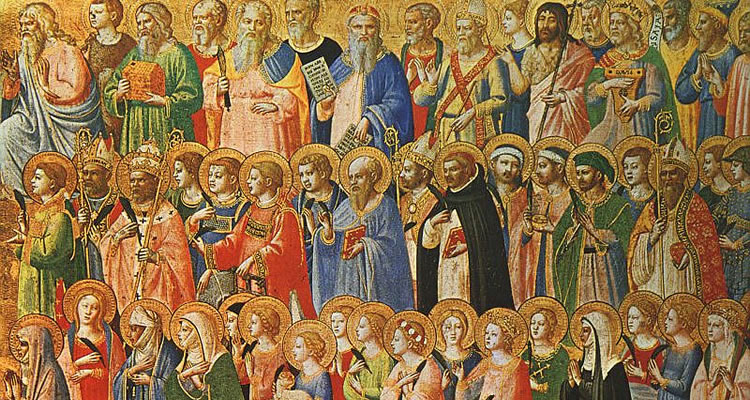 """The Forerunners of Christ with Saints and Martyr"" - Fra Angelico."