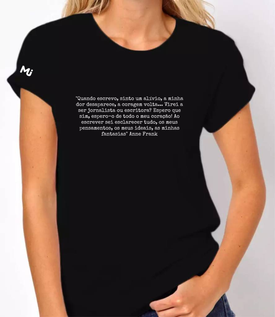 Camiseta Frase Anne Frank