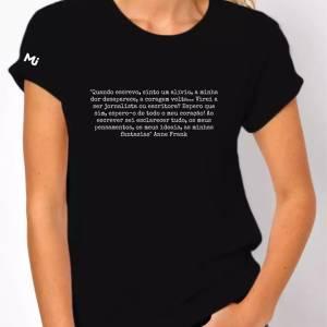 Camiseta, Anne Frank, mulheres jornalistas, instituto mulheres jornalistas, loja mulheres jornalistas